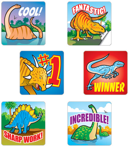 Dinosaurs Motivational Stickers