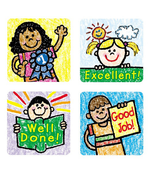 Kids: Kid-Drawn Motivational Stickers
