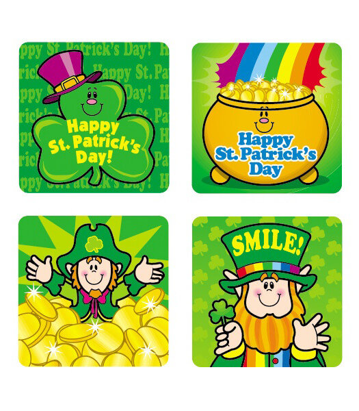 St. Patrick's Day Motivational Stickers