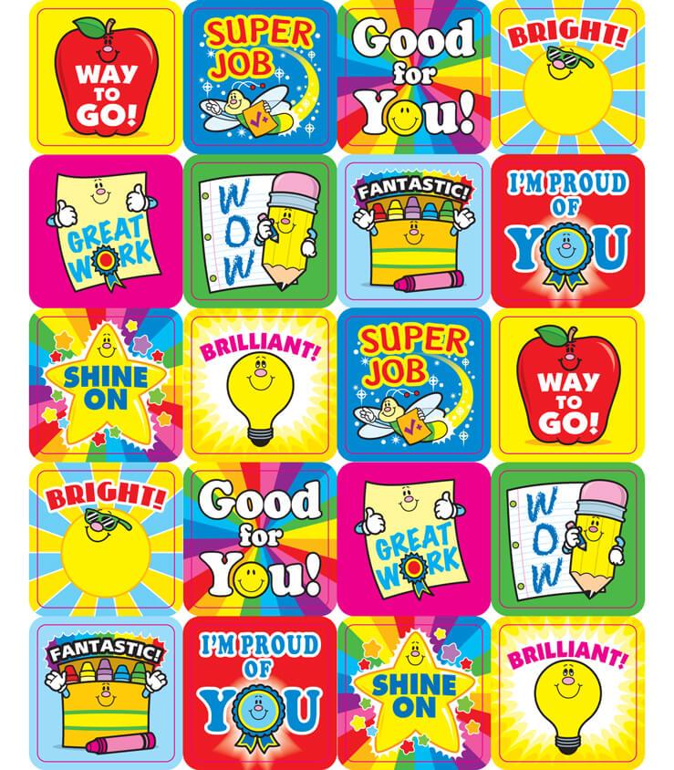 Winning Words Motivational Stickers