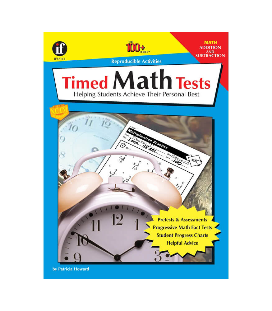 Timed Math Tests, Addition and Subtraction Resource Book