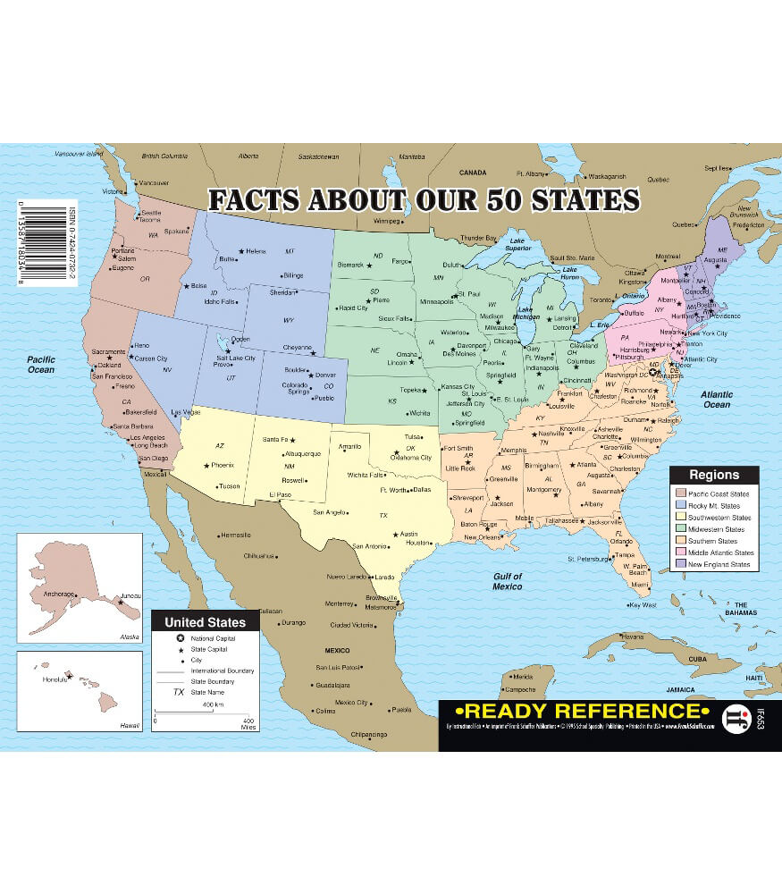 Facts About Our 50 States Ready Reference Learning Cards