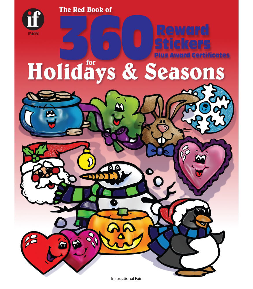 The Red Book of 360 Reward Stickers for Holidays and Seasons Sticker Book