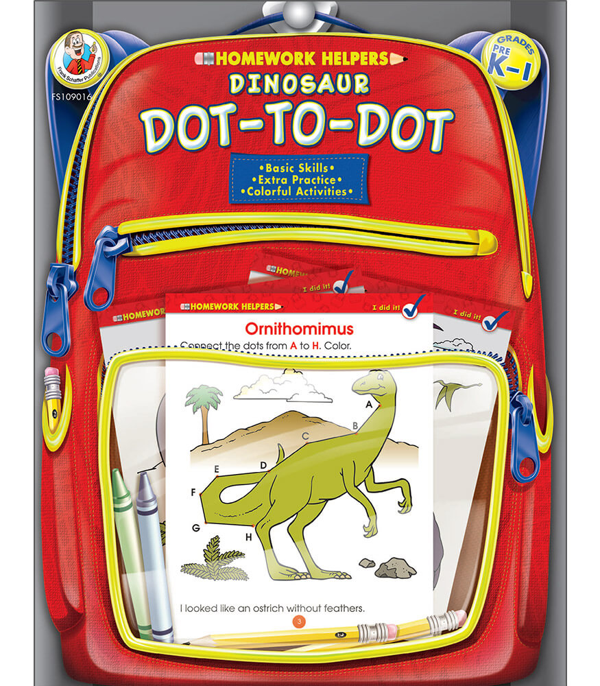 Dinosaur Dot-to-Dot Activity Book