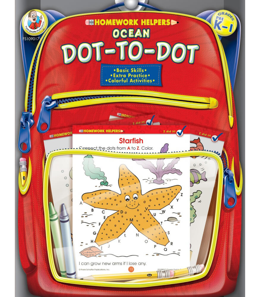 Ocean Dot-to-Dot Activity Book
