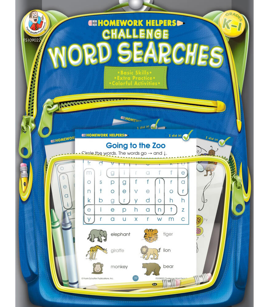 Challenge Word Searches Activity Book