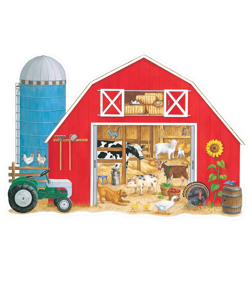 What's in the Big Red Barn? Floor Puzzle Product Image