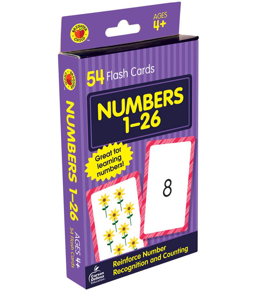 Numbers 1 to 26 Flash Cards Grade PK-1   Carson-Dellosa ...