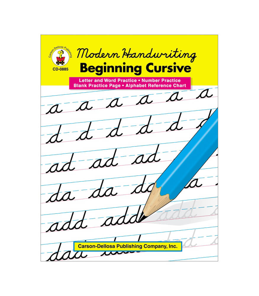 modern handwriting beginning cursive resource book grade 1 3 carson dellosa publishing. Black Bedroom Furniture Sets. Home Design Ideas