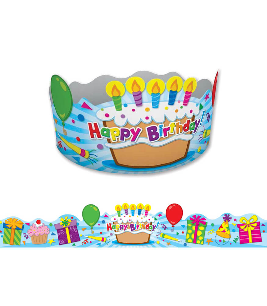 Birthday Crowns Grade Pk 5 Carson Dellosa Publishing