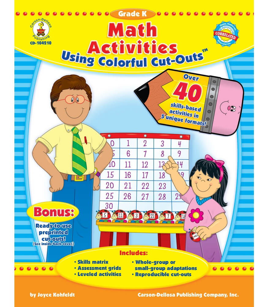 Math Activities Using Colorful Cut-Outsu2122 Resource Book ...