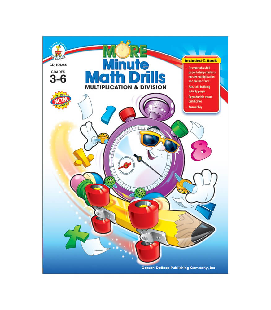 Worksheet Carson-dellosa Worksheets more minute math drills grade 3 6 carson dellosa publishing resource book
