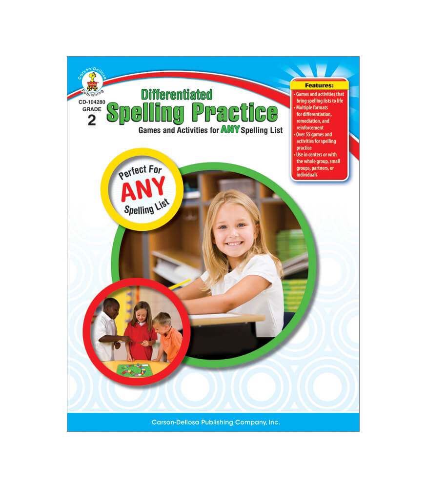 Worksheet Practice Book Grade 2 differentiated spelling practice grade 2 carson dellosa publishing resource book