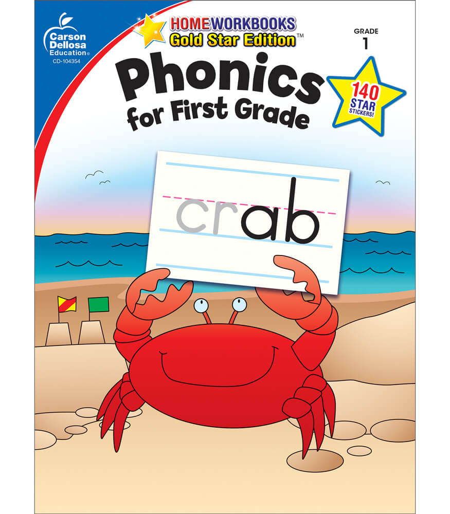Worksheet First Grade Workbooks phonics for first grade workbook 1 carson dellosa publishing workbook
