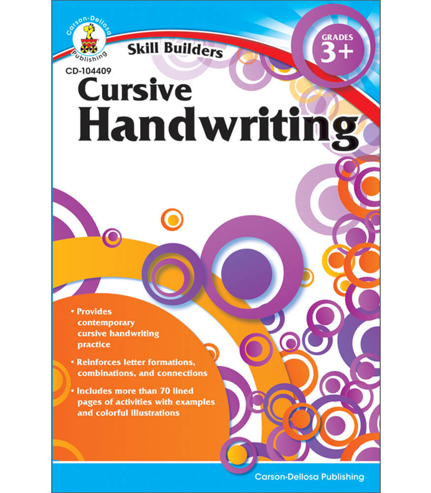 cursive handwriting workbook grade 3 5 carson dellosa publishing. Black Bedroom Furniture Sets. Home Design Ideas