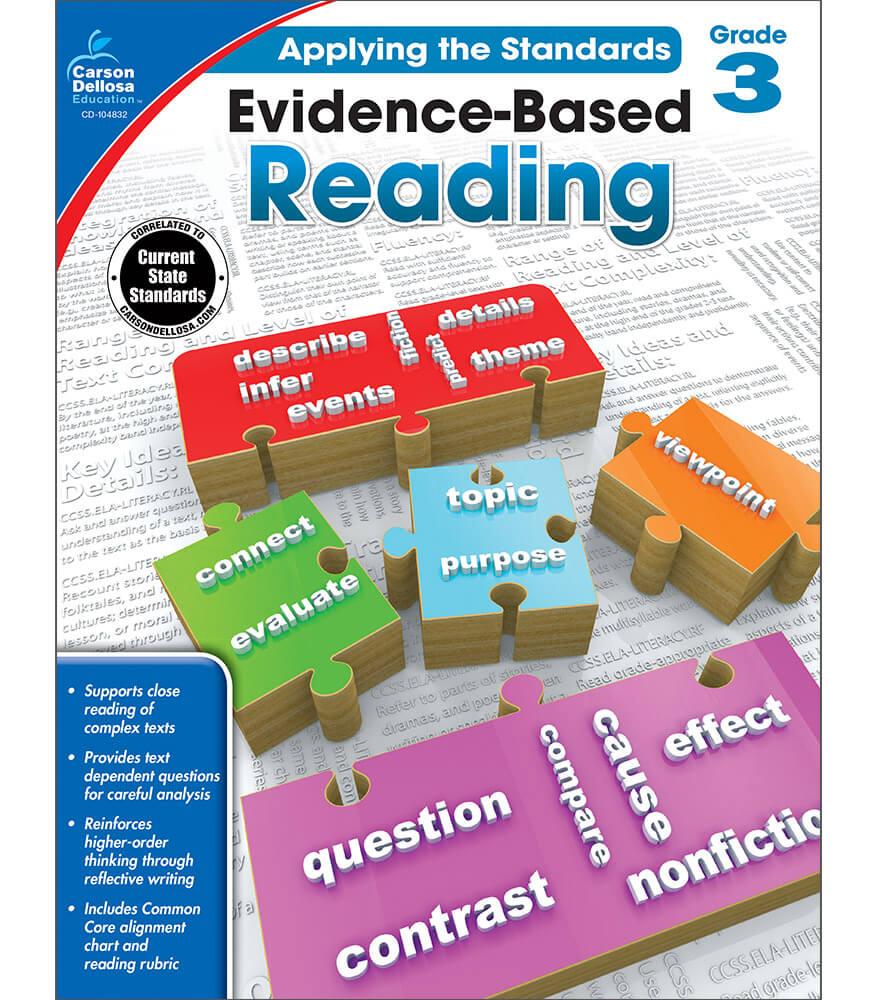 Worksheet Reading Text For Grade 3 evidence based reading grade 3 carson dellosa publishing workbook