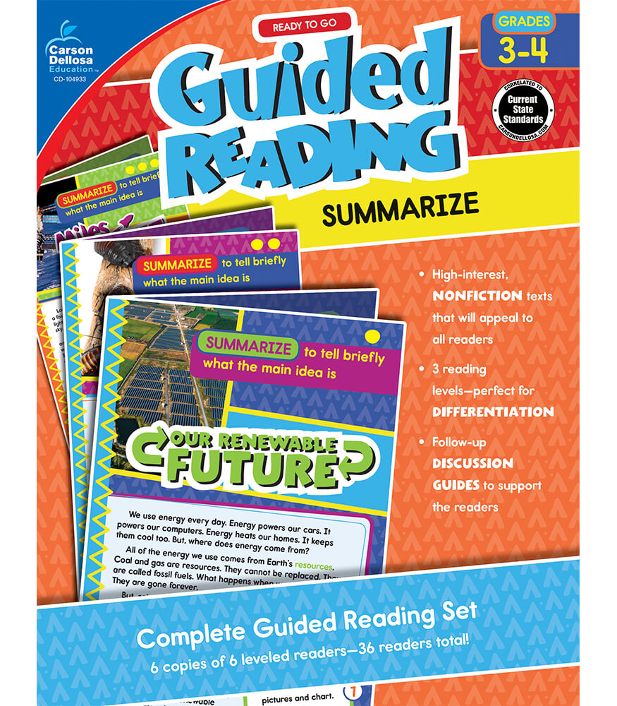 Guided Reading: Summarize Resource Book