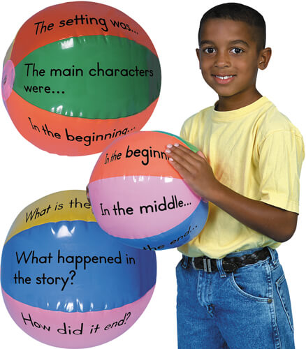 Guided Reading Beach Balls Manipulative