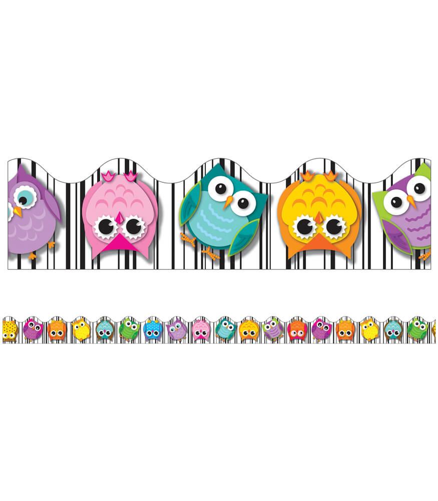 colorful owls scalloped borders grade pk 5 carson carson dellosa cllipart carson dellosa clip art book