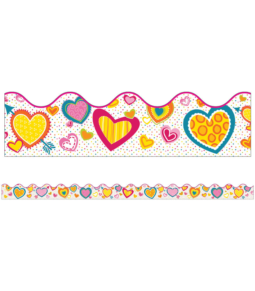 Hearts Scalloped Borders