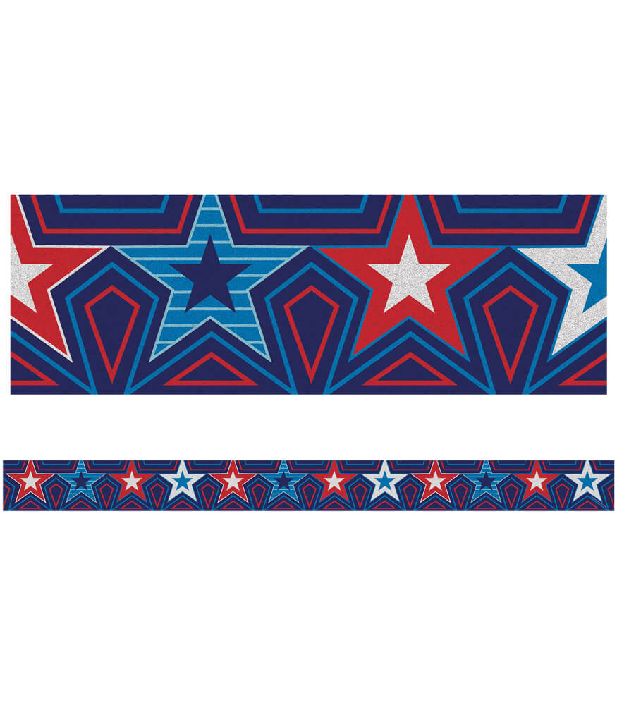 Star-Spangled Straight Borders Product Image
