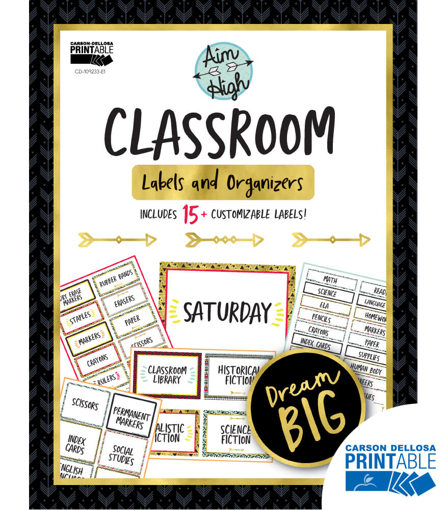 Aim High Printable Classroom Labels & Organizers Product Image