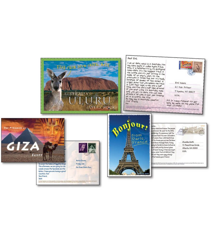 Postcards from Around the World Bulletin Board Set Product Image