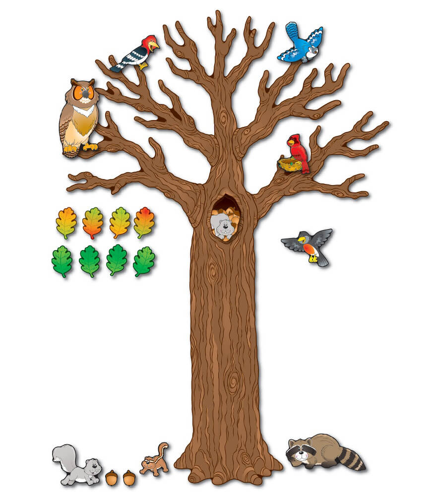 Big Tree with Animals Bulletin Board Set Product Image