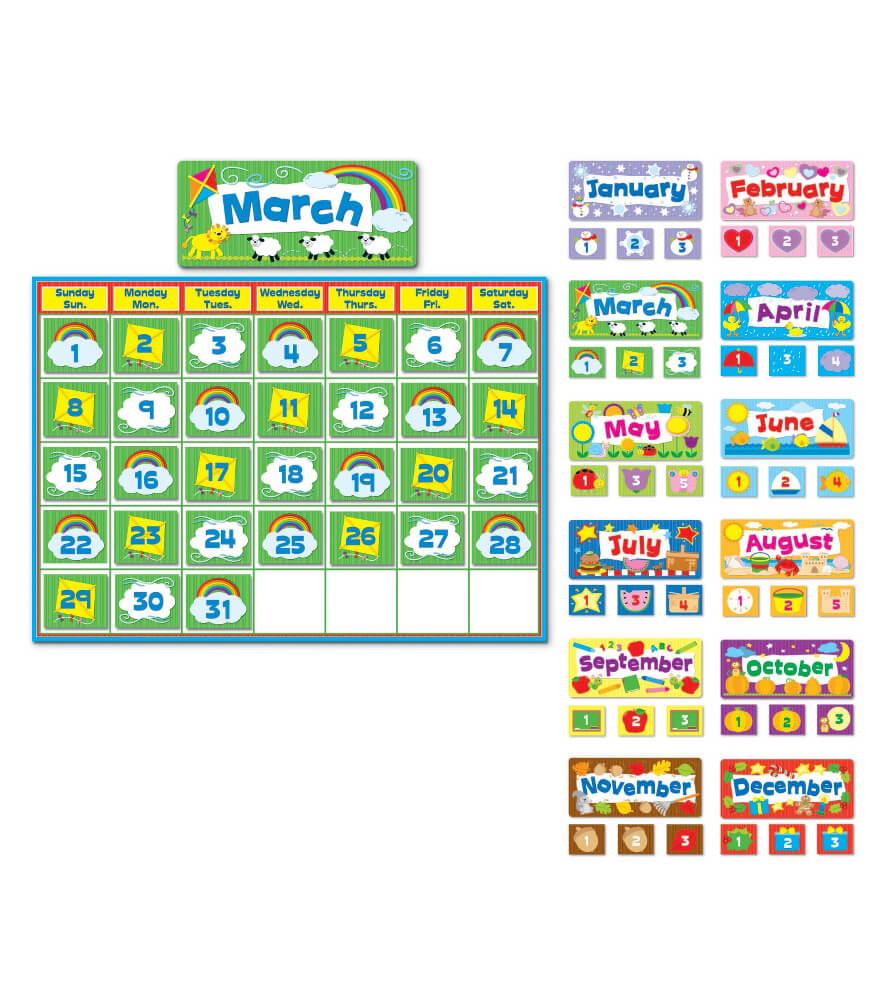 Complete Calendar Kit Bulletin Board Set Product Image