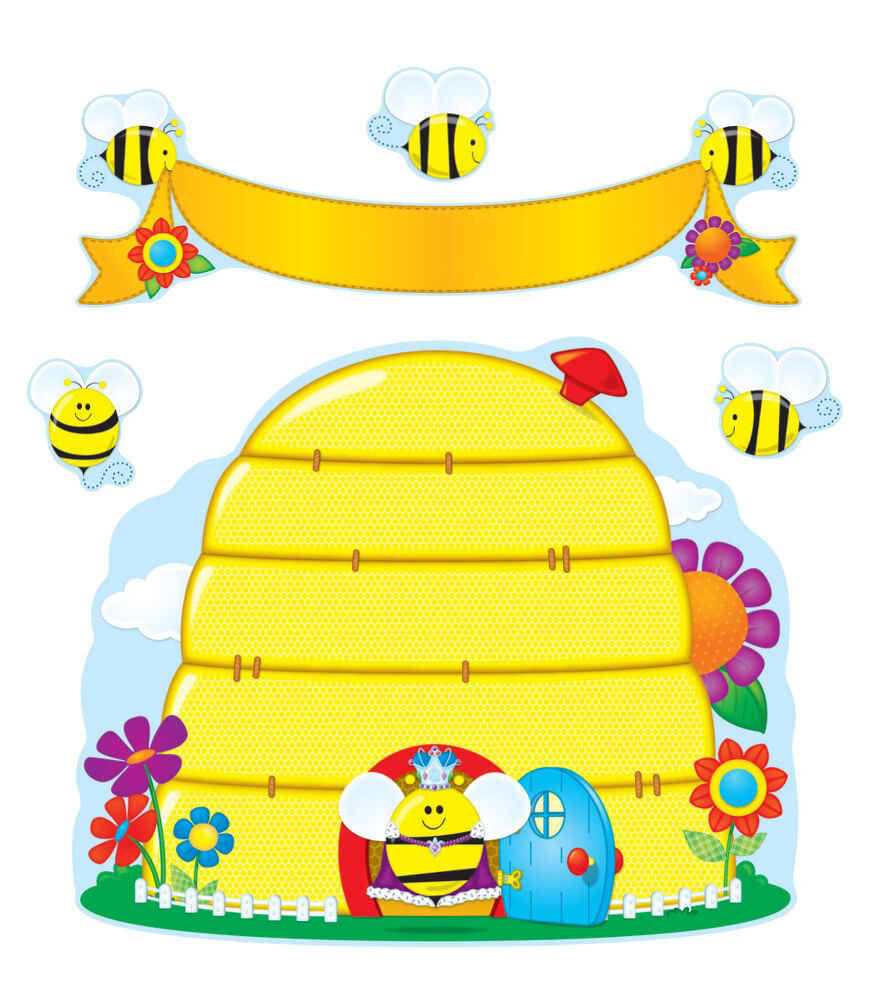 110127 Busy Bees Bulletin Board Set 110127 on Spring School Bulletin Board Ideas