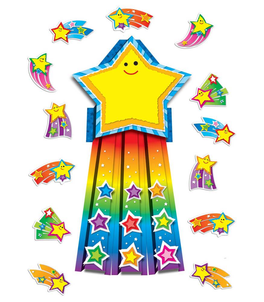 110143 Shooting Stars Bulletin Board Set 110143 on Bulletin Board Kids Monsters