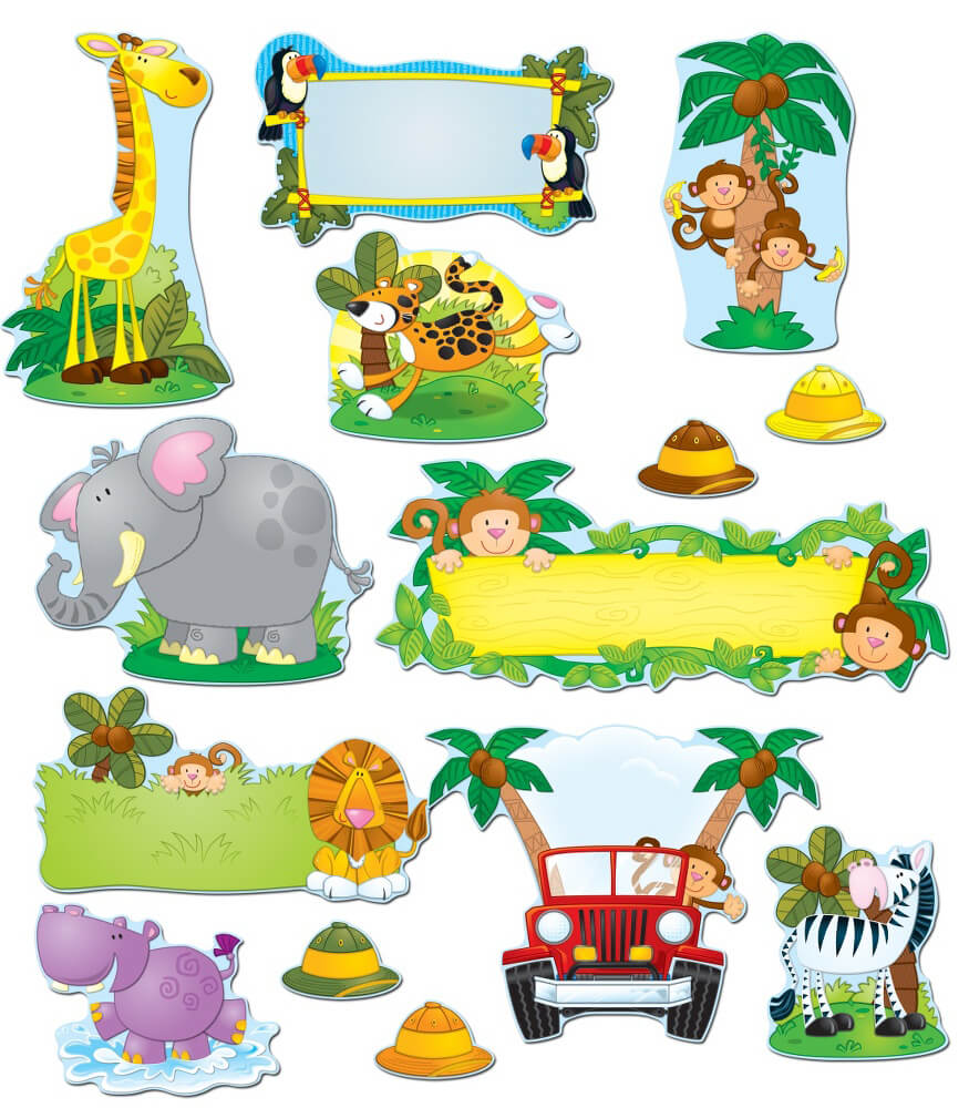 Jungle Safari Bulletin Board Set Grade PK 5 Carson Dellosa Publishing