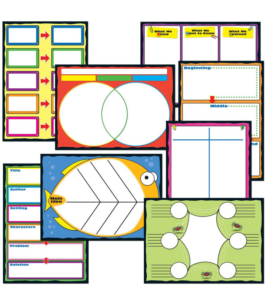 graphic organizers bulletin board set grade 1