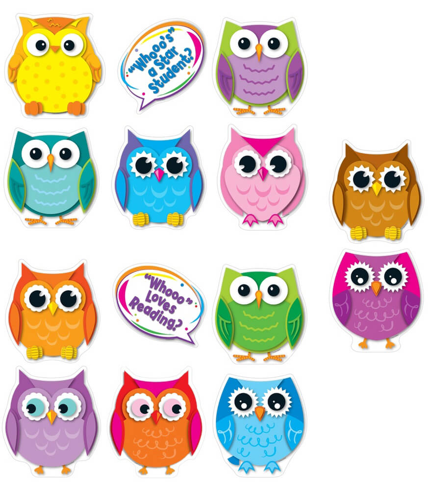 Colorful Owl Talkers Bulletin Board Set