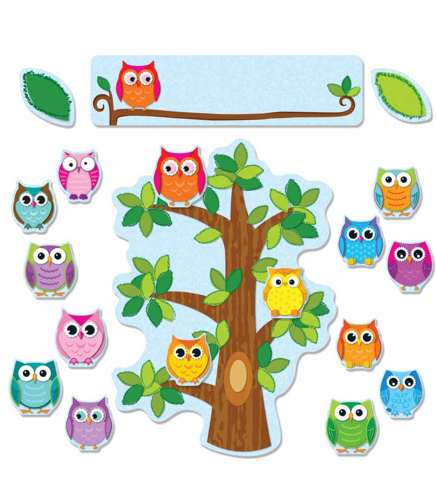 Colorful Owls Behavior Bulletin Board Set Grade PK 5 Carson Dellosa