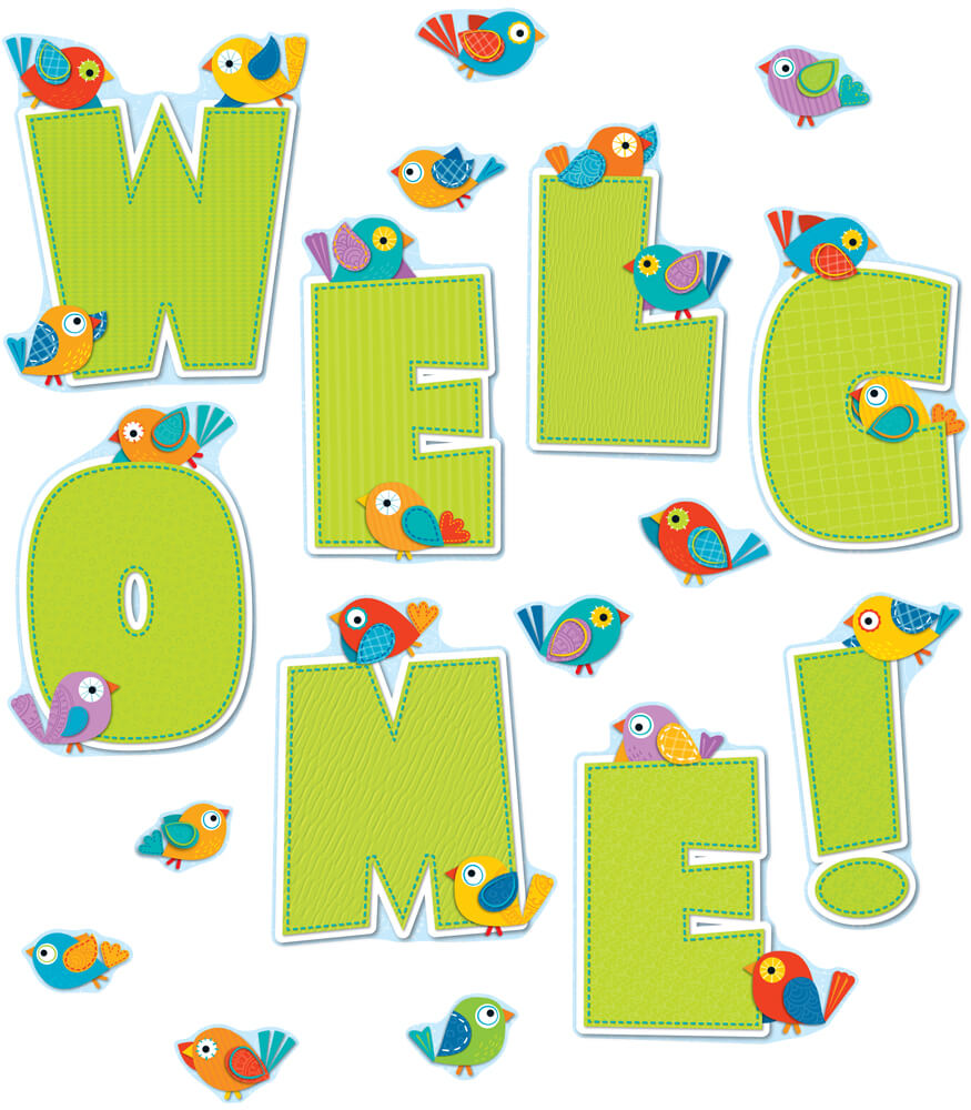Boho Birds Welcome Bulletin Board Set Product Image