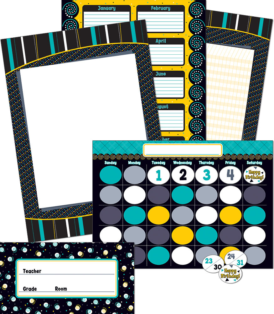 Black And White Perfect Pairs Bulletin Board Border Set | CTP6586