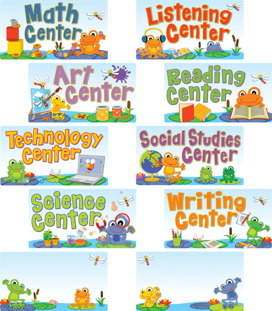 110268 FUNky Frogs Center Signs Bulletin Board Set 110268 on Five Grade Science Test