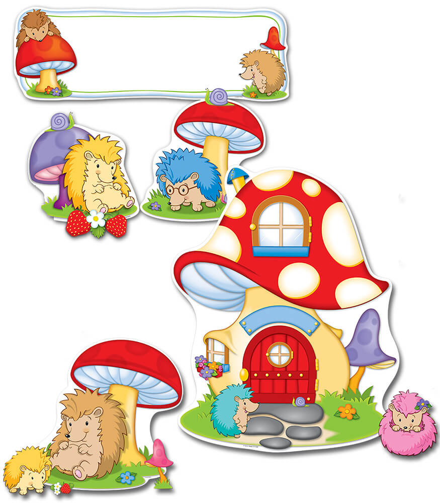 Hedgehog Classroom Decor ~ Happy hedgehogs bulletin board set grade pk carson