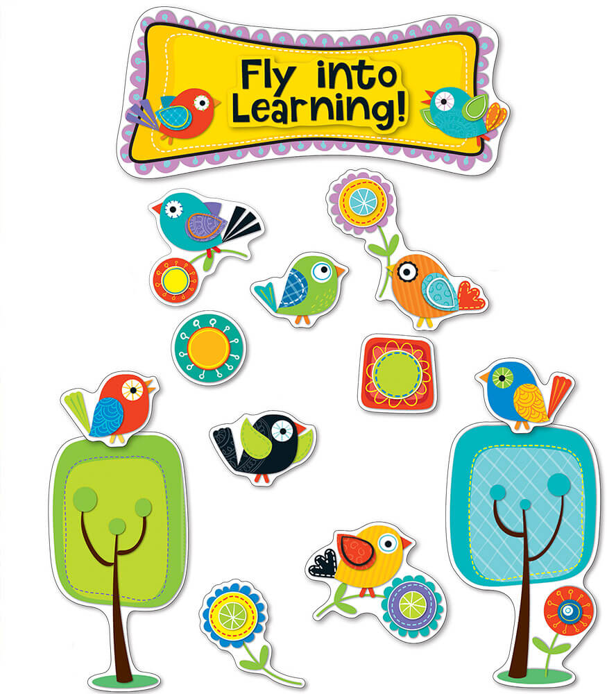 Boho Birds Fly into Learning Bulletin Board Set
