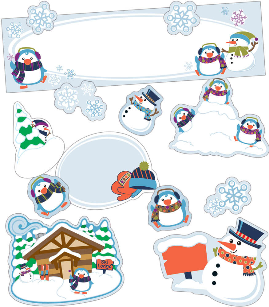 Winter Mini Bulletin Board Set