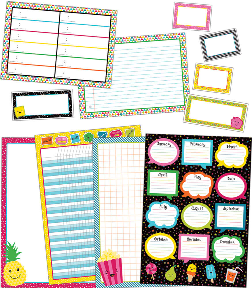 School Pop Classroom Organizers Bulletin Board Set