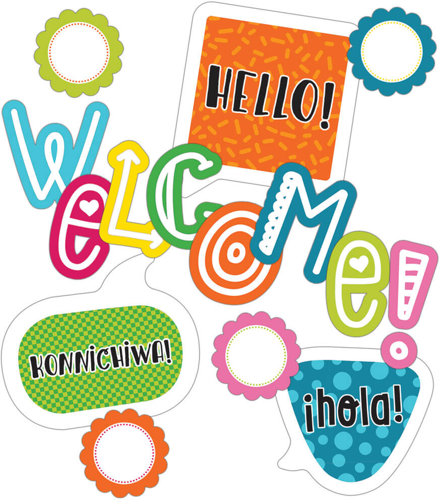 School Pop Welcome Mini Bulletin Board Set