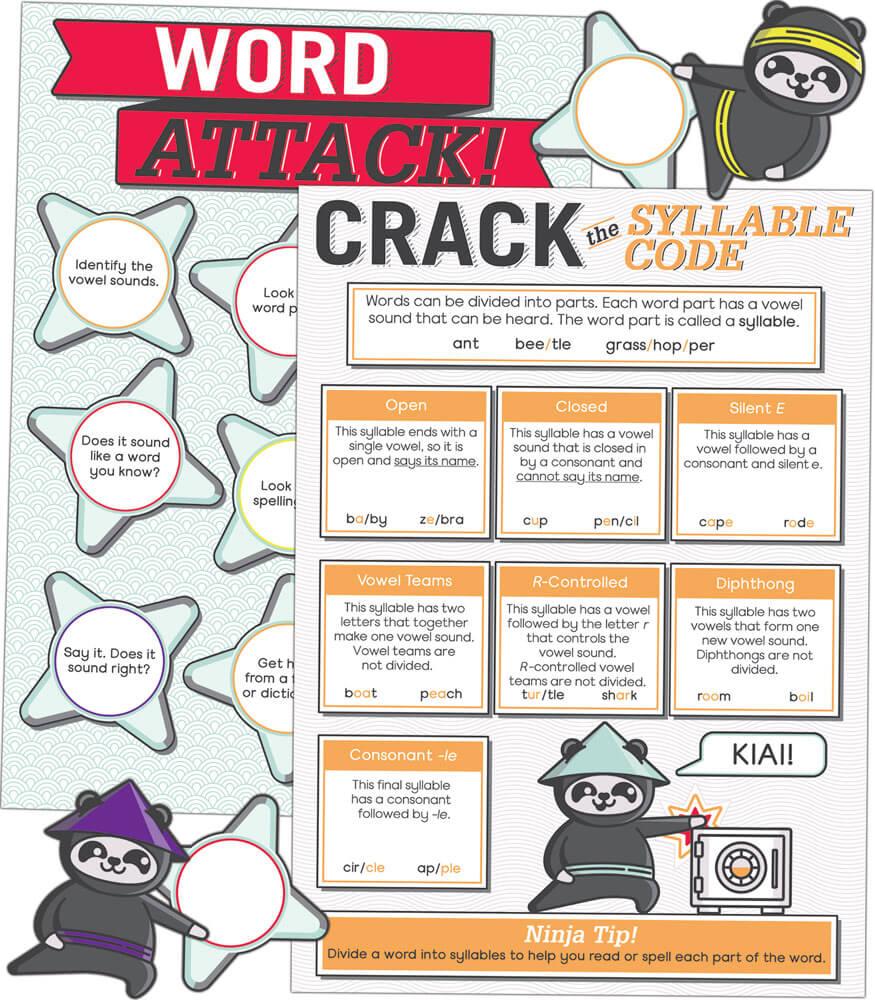 language arts bulletin board sets word attack bulletin board set