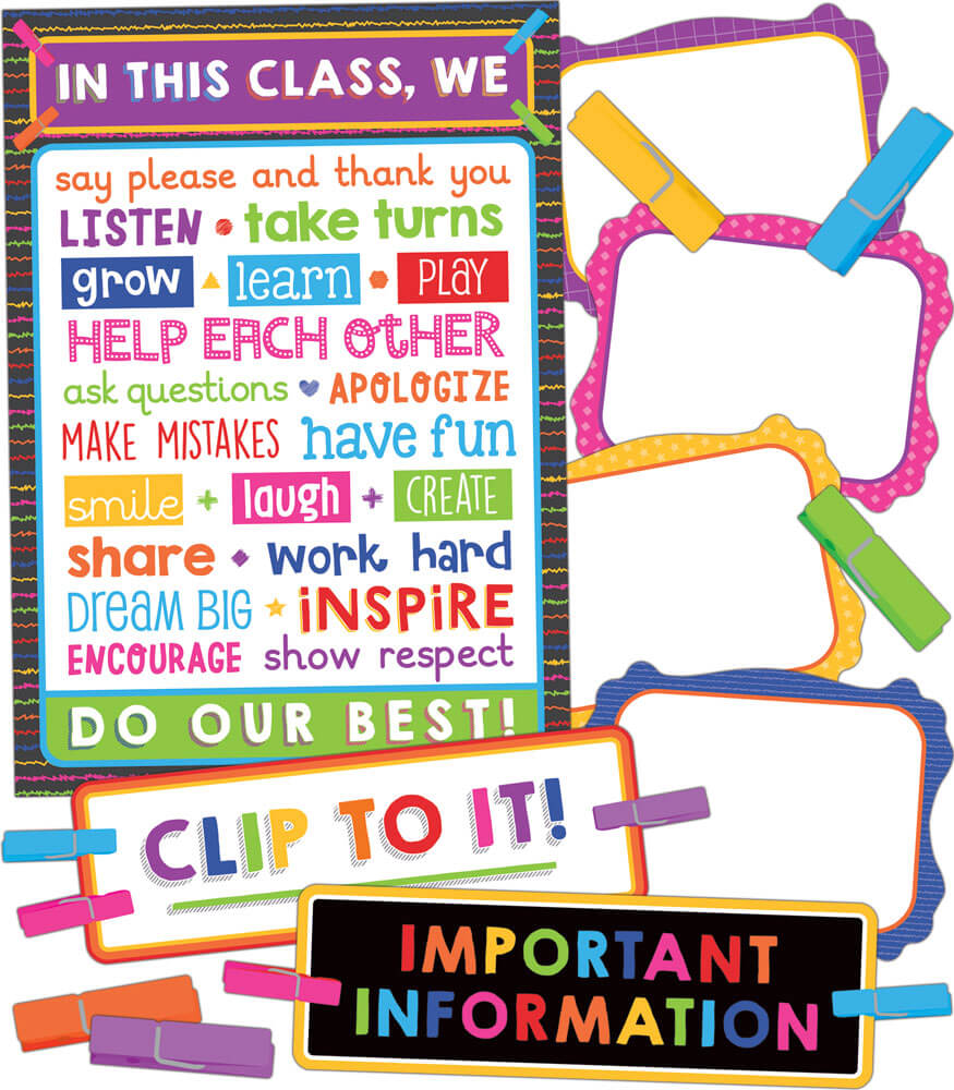 110352 Clip Chart Classroom Management Bulletin Board Set 110352 on Halloween Safety Rules