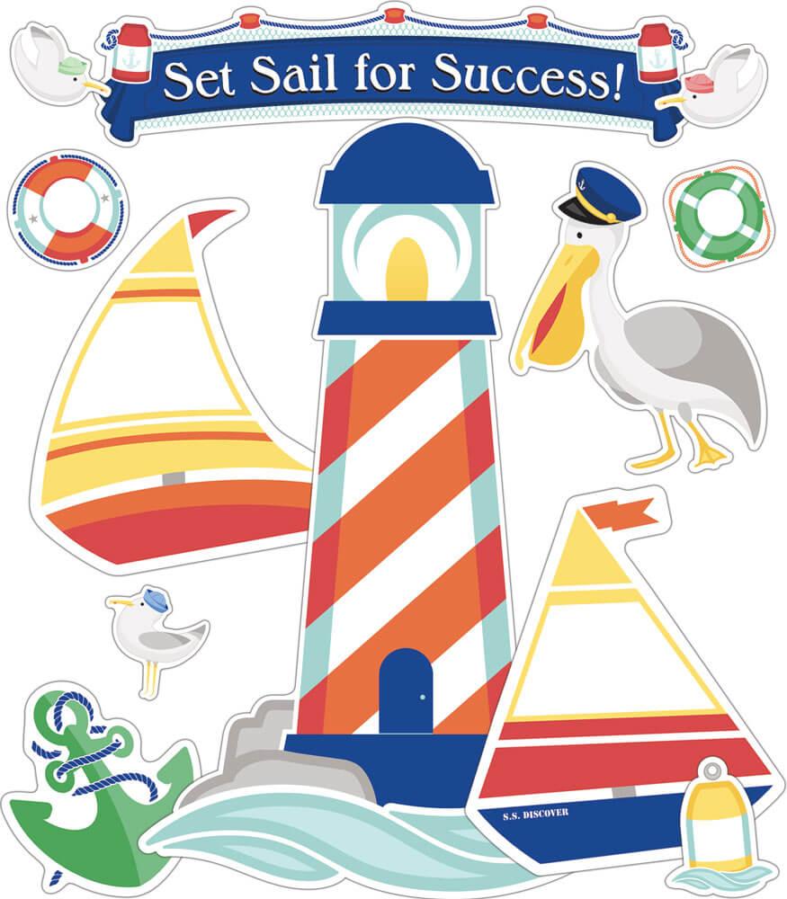 Set Sail for Success! Bulletin Board Set Product Image