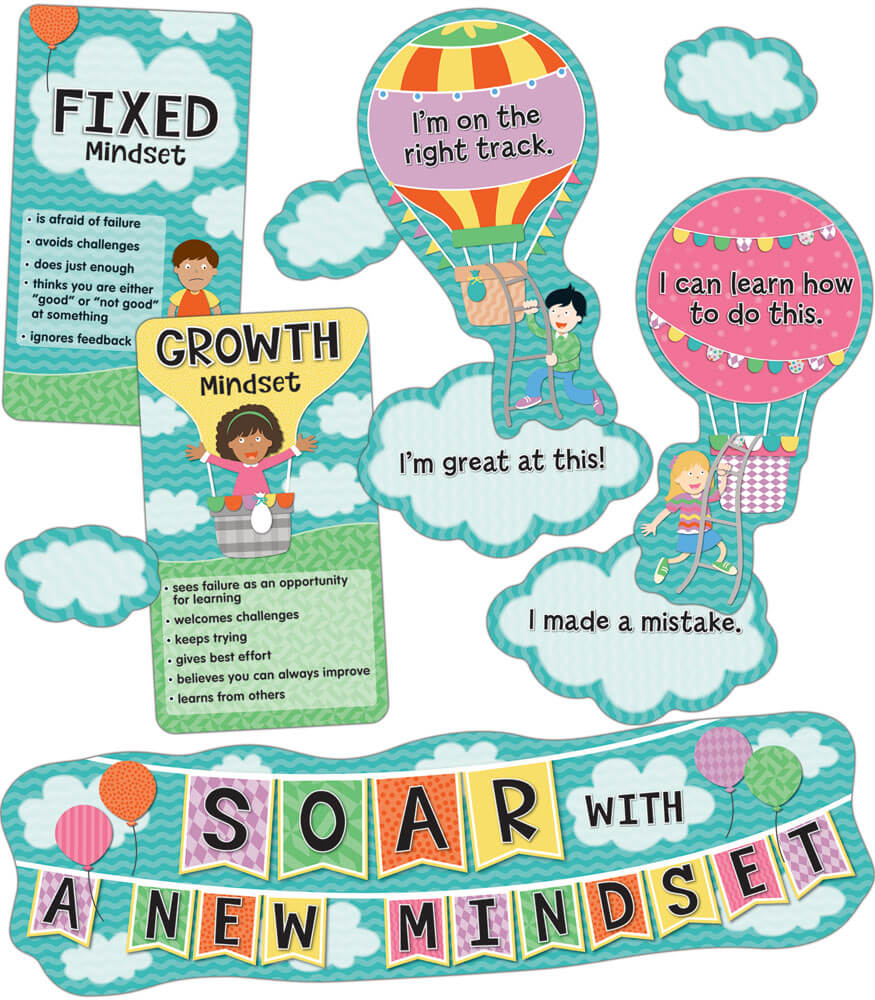 110360 Soar With A New Mindset Mini Bulletin Board Set 110360 on Thanksgiving Day Bulletin Boards