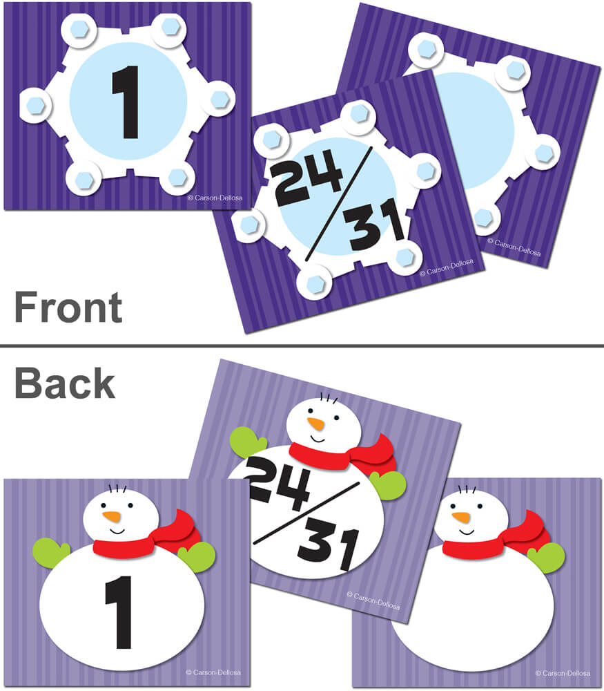 Snowflake/Snowman Calendar Cover-up Cut-Outs Product Image