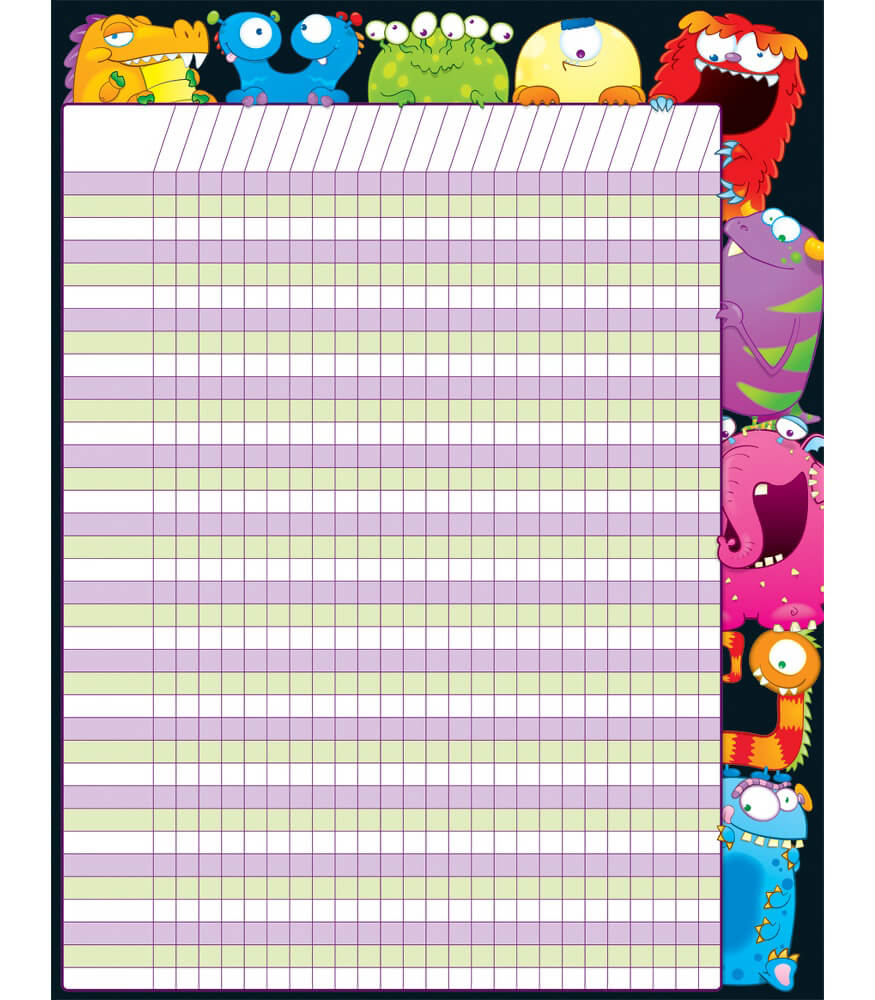 Monsters incentive chart carson dellosa publishing
