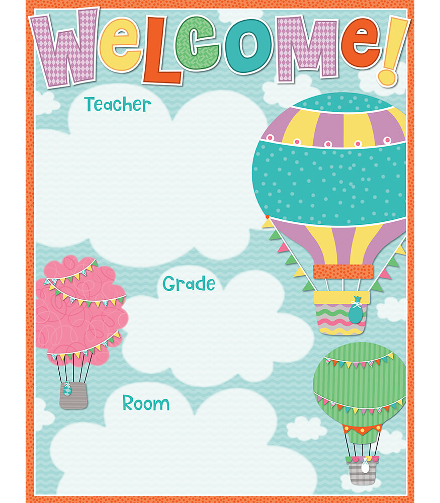 Up and Away Welcome Chart
